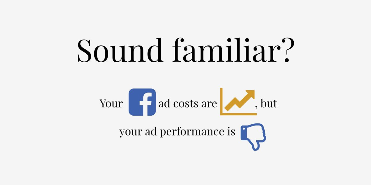 Cost of Facebook ads will double again this year.